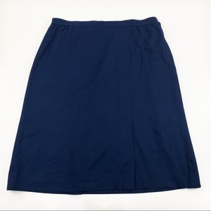 Vtg Pendleton navy blue wool skirt 22W 2X 3X